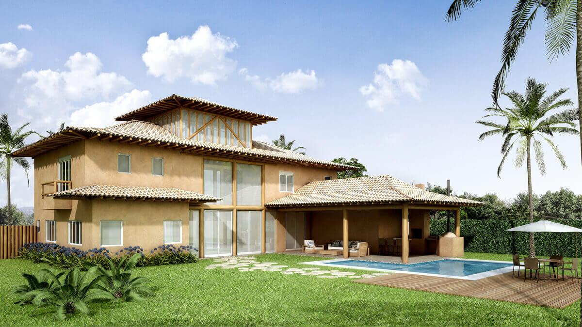 Casa em Chapadão do Sul com toda estrutura em eucalipto autoclavado.
