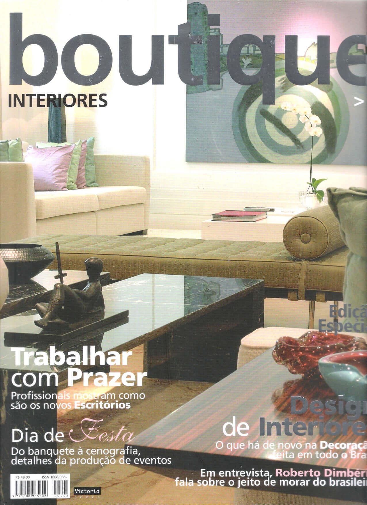 Revista boutique interiores - capa